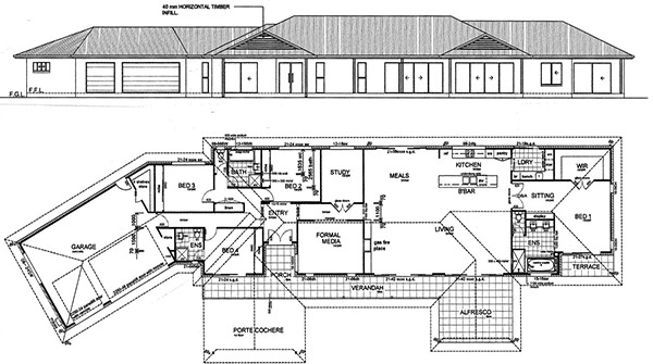 3 Chain Surveying : House Plan